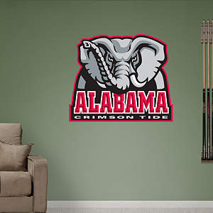 Alabama Crimson Tide Logo Fathead Wall Decal